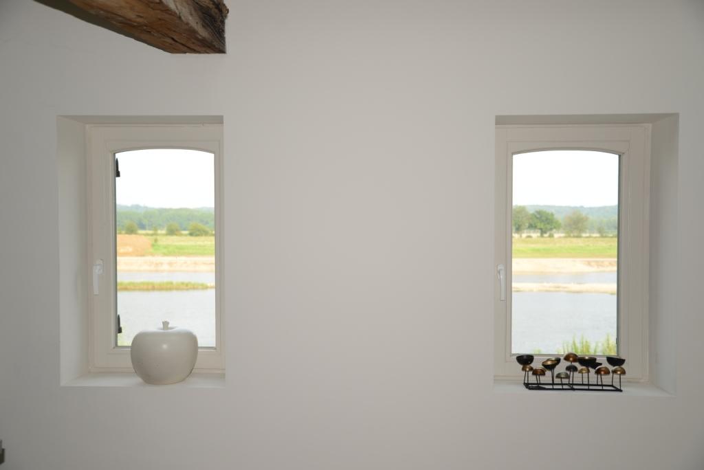 Uitzicht vanuit het raam op kamer 2